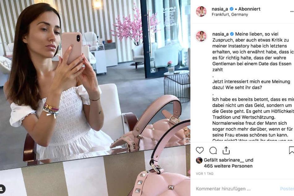 Das Bild zeigt einen Screenshot des Instagram-Posts von Anastasiya Avilova.
