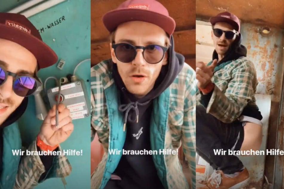 """""""Wir brauchen Hilfe"""", verkündet Fynn Kliemann bei Instagram."""