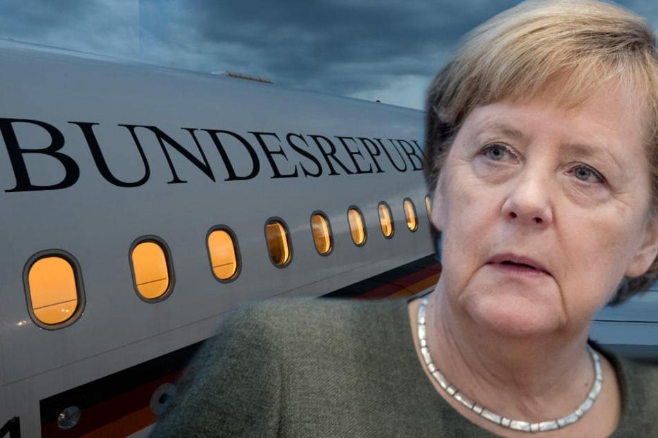 Angela Merkels Regierungsflieger musste umkehren. (Bildmontage)