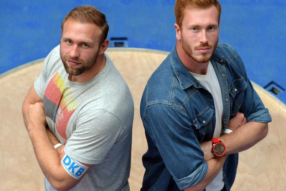 Die Diskus-Brüder Robert (33, li.) und Christoph Harting (28).