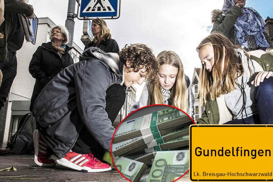 Die vier Jungen und zwei Mädchen brachten das Geld daraufhin zur Polizei.