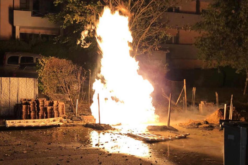 Das brennende Gas konnte nich ohne Weiteres einfach abgedreht werden.