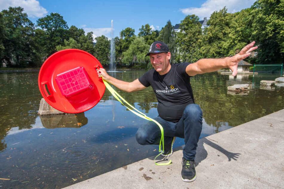 Till Schwabe (56) freut sich auf das diesjährige Hitschenrennen auf dem Schutzteich in Annaberg-Buchholz.
