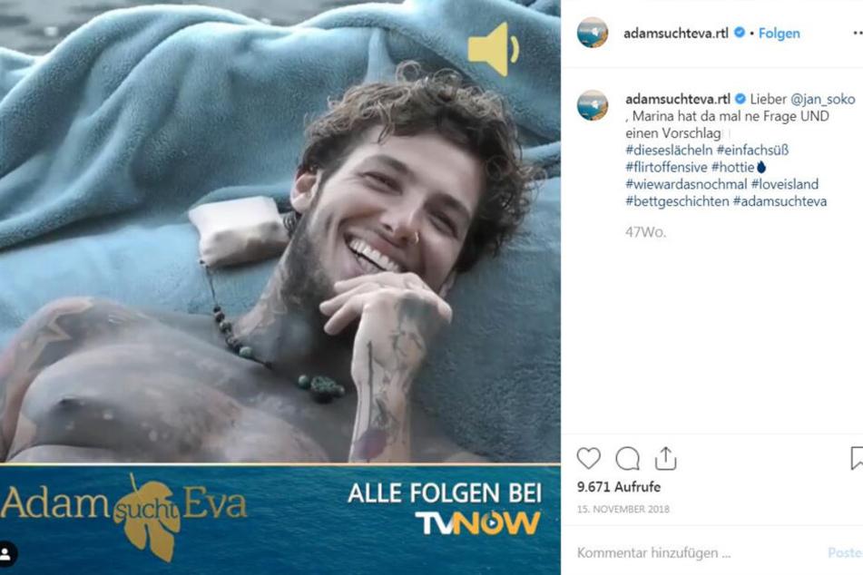 So zeigt der Fernsehsender RTL kürzlich Jan Sokolowsky auf Instagram.