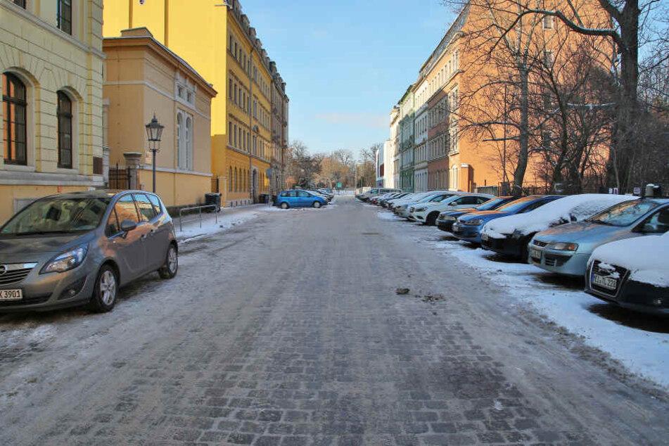 Bis zu dreimal länger als normal ist der Bremsweg auf diesem  Kopfsteinpflaster in der Seminarstraße in der Friedrichstadt. Dieses Jahr wird  es ausgetauscht.
