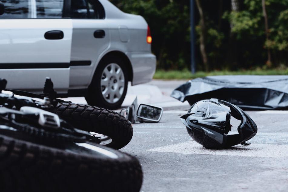 Zu schnell unterwegs: Motorradfahrt endet im Krankenhaus