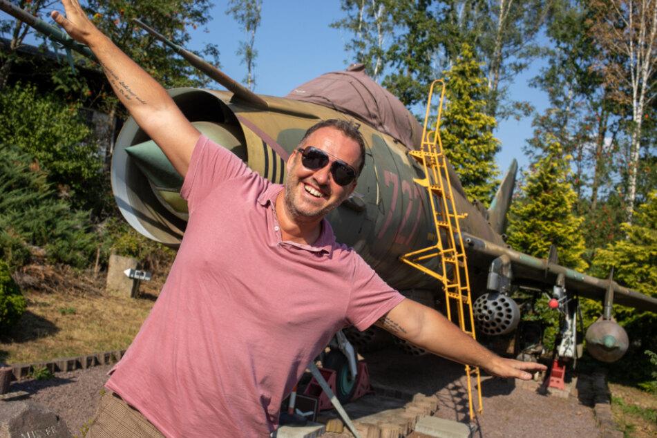 Ob großer Charter-Flieger oder Düsenjäger - MDR Sachsen-Radiomoderator Silvio Zschage (41) ist vom Fliegen fasziniert.