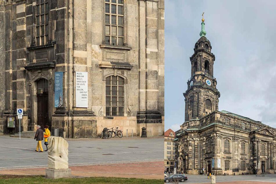 Zum Schlagabtausch kommt es in der Kreuzkirche Dresden.