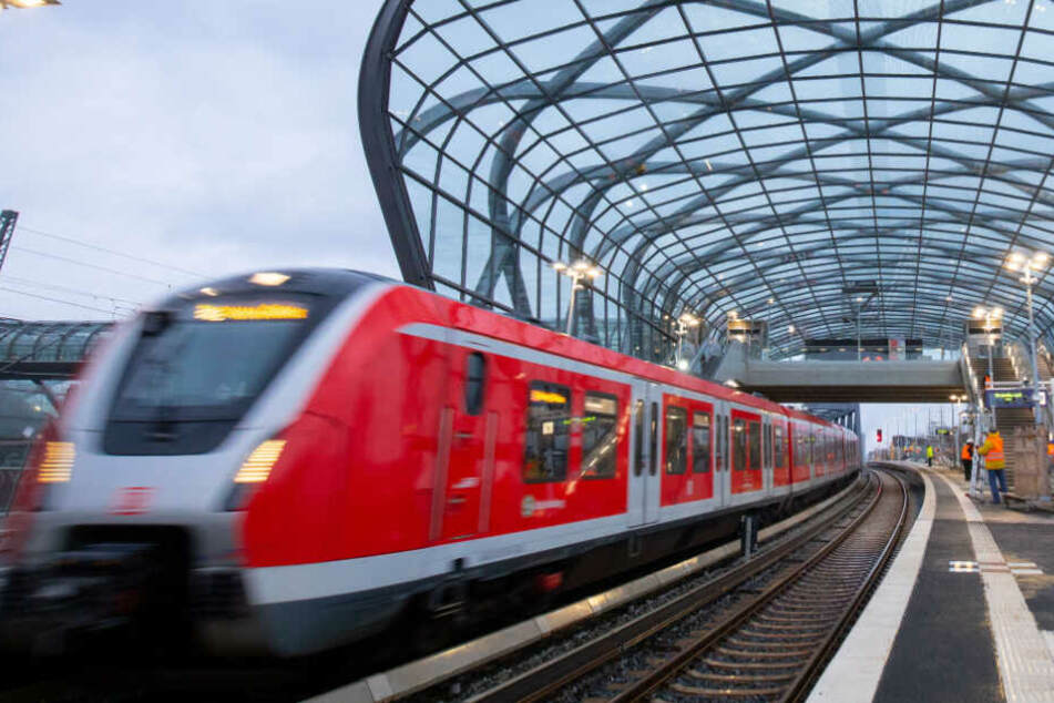 Eine S-Bahn fährt in die neue Station Elbbrücken ein. (Archivbild)
