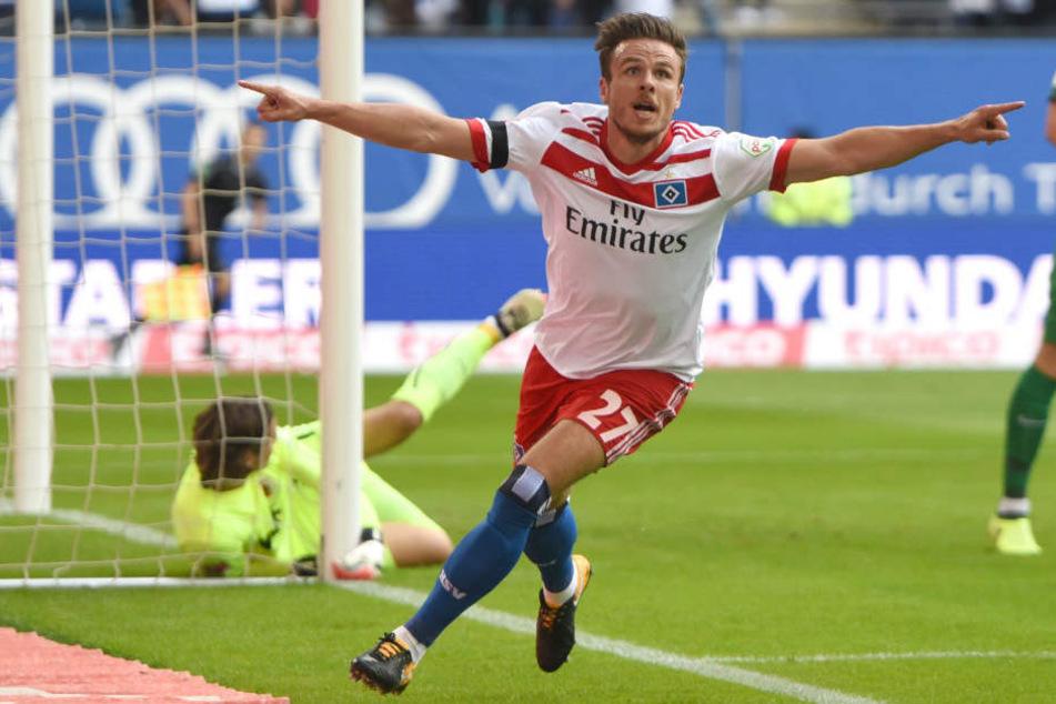 Nicolai Müller kommt ablösefrei vom Hamburger SV an den Main.