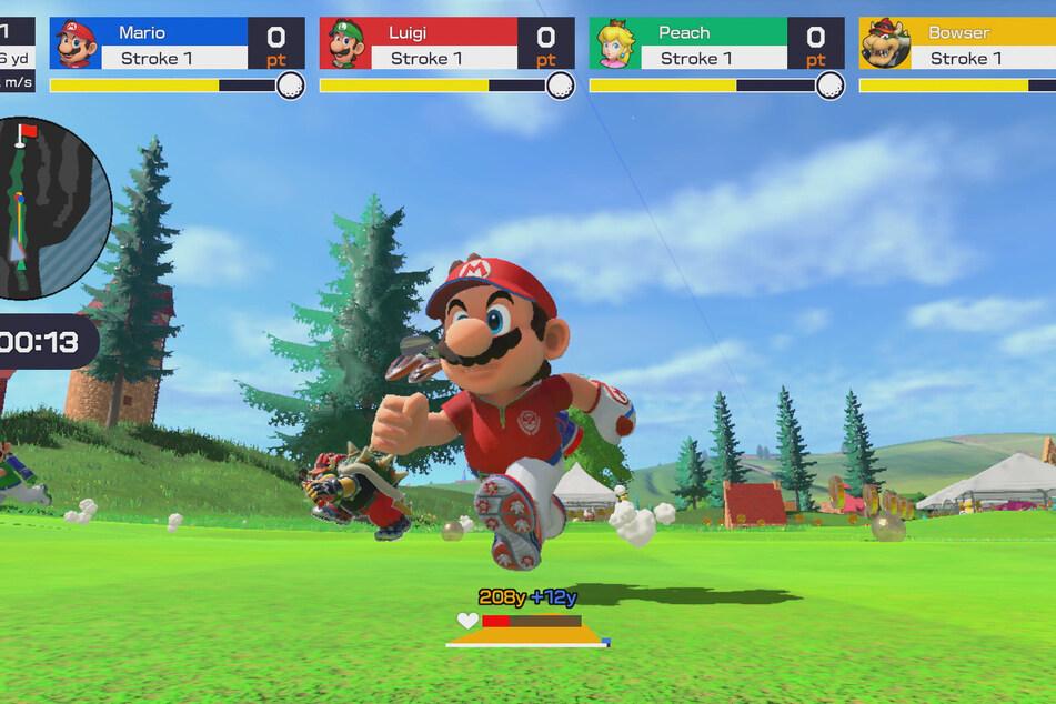 """Beim """"Speed Golf"""" mit Freunden wird es schnell positiv hektisch. Der Einsatz von Spezialtechniken bringt zudem eine taktische Komponente mit sich."""