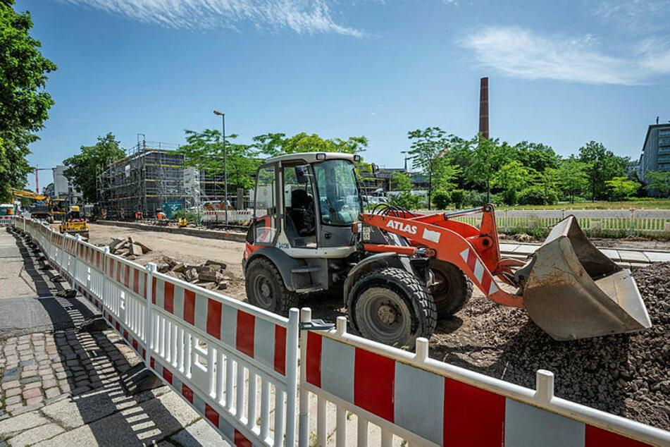 Die Schloßstraße wird momentan noch saniert. Hier sollen ab August nur noch Fahrräder fahren.