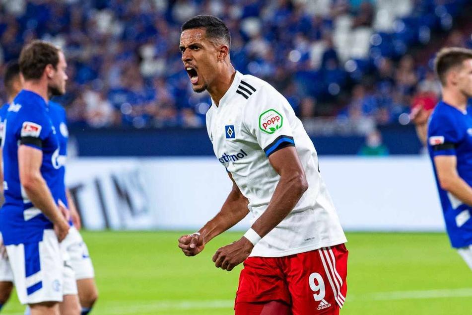 HSV-Angreifer Robert Glatzel (27) will am Samstag auch gegen seinen Ex-Verein 1. FC Heidenheim jubeln.
