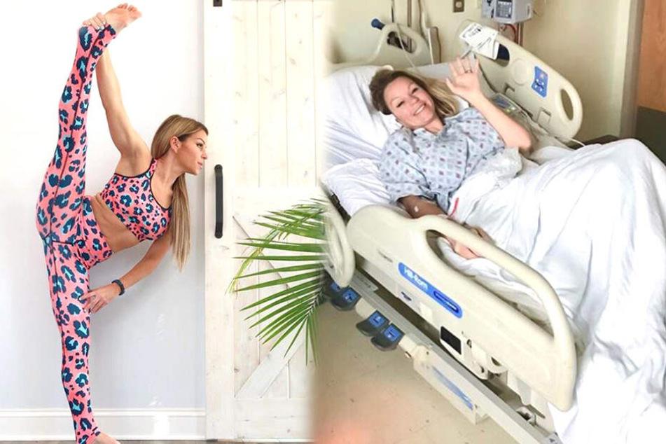 Rebbeca Leigh (40) spürte Schwindel und Kopfschmerzen nach einer Yoga-Übung.