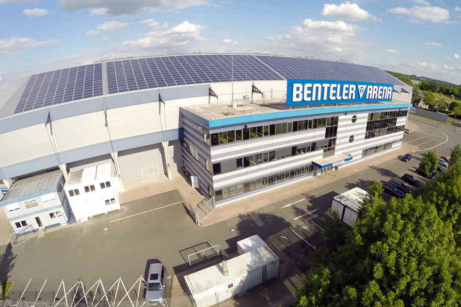 Die Benteler-Arena wäre bei einem Abstieg als Heimspielstätte des SCP fraglich.