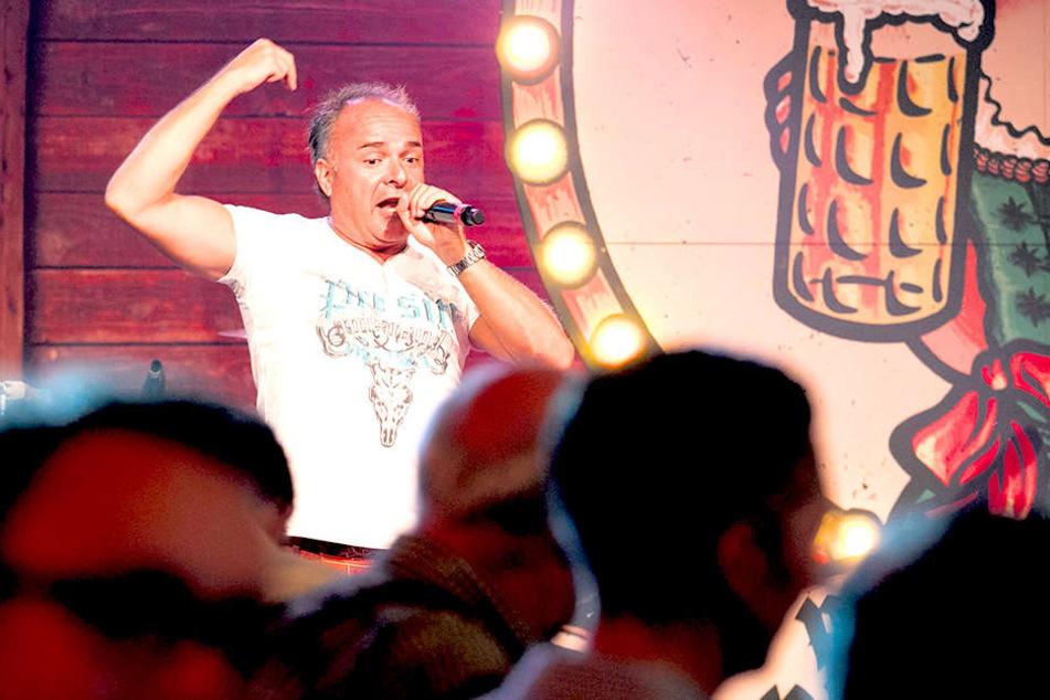 Tim Toupet (45) war der Star-Gast beim MOPO-Tag beim Pichmännel-Oktoberfest.