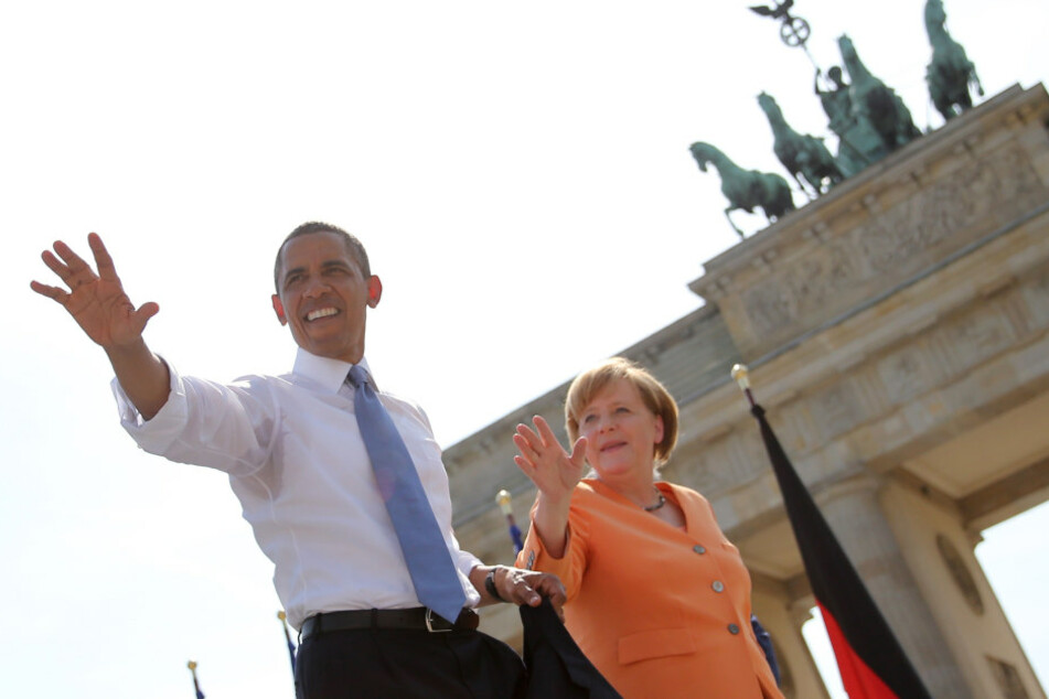 Obama und Merkel vor dem Brandenburger Tor im Juni 2013.