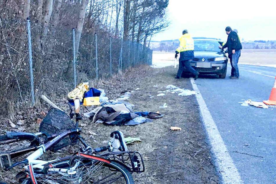 Bei Großröhrsdorf waren der Radfahrer und ein Lkw miteinander zusammengestoßen.