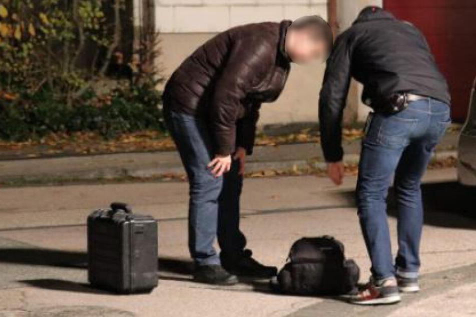 Spurensuche am Tatort. Spezialkräfte konnten bereits am nächsten Tag einen Tatverdächtiger festnehmen.