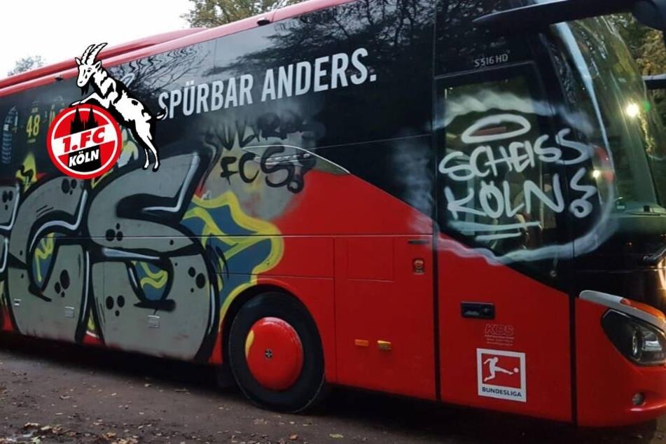 Vor DFB-Pokal: Graffiti-Attacke auf Kölner Bus