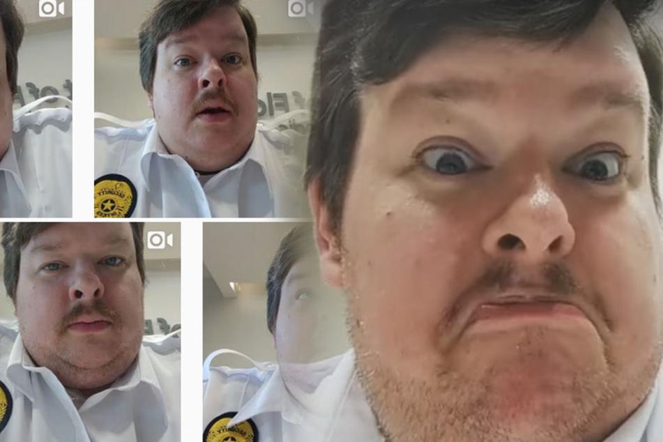 Wachmann filmt sich sechs Monate dabei, wie er auf Arbeit furzt