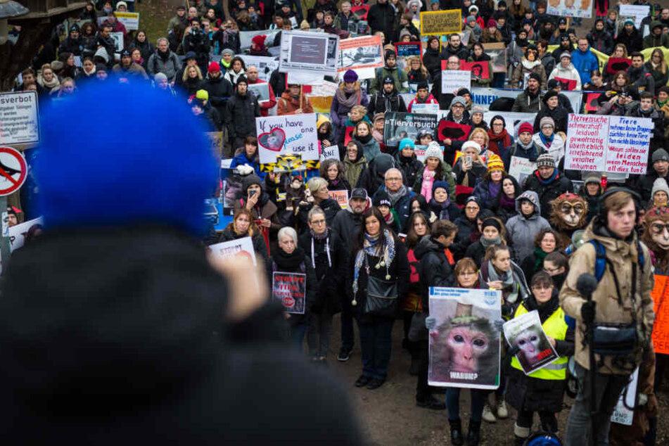 In Tübingen kam es zu Demos mit Hunderten Teilnehmern, wie hier im Dezember 2016.