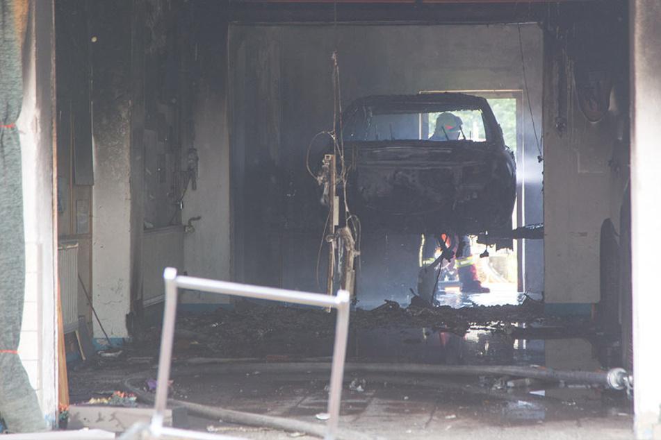 Opel sollte restauriert werden. Dann kam das Feuer...