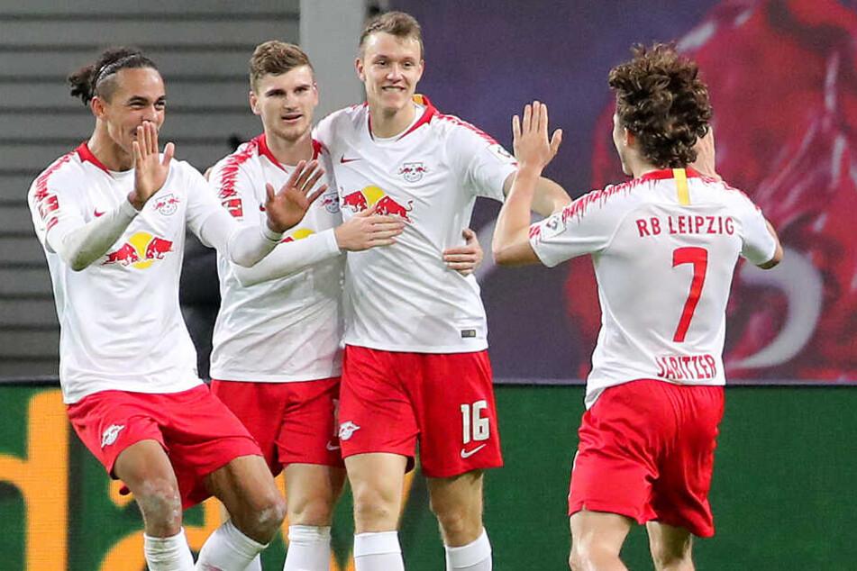 """RB Leipzig konnte sich wie schon im Vorjahr über die Auszeichnung als """"Mannschaft des Jahres"""" freuen."""
