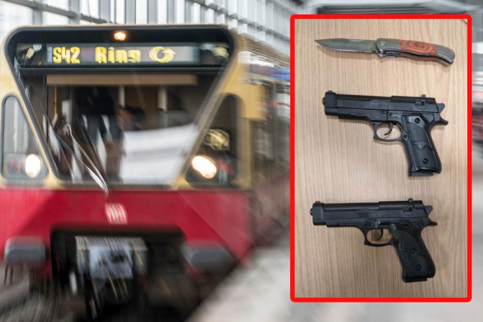 Die Bundespolizei konnte diese Waffen sicherstellen. (Bildmontage)