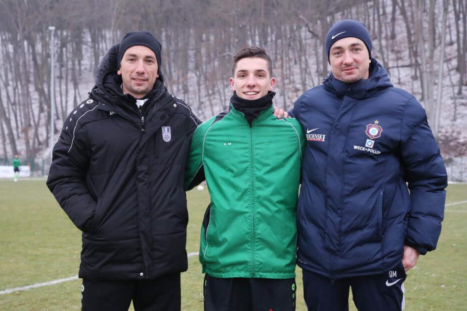 Das Meyer-Trio: Daniel (v.r.), Ben-Florian und André.