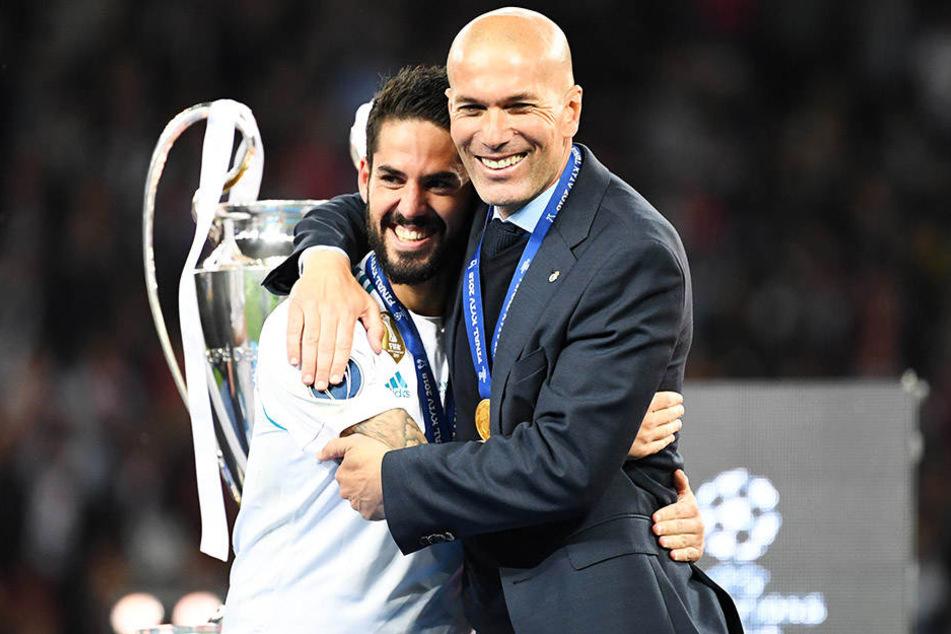 Zinedine Zidane nach dem Champions-League-Sieg gegen den FC Liverpool.