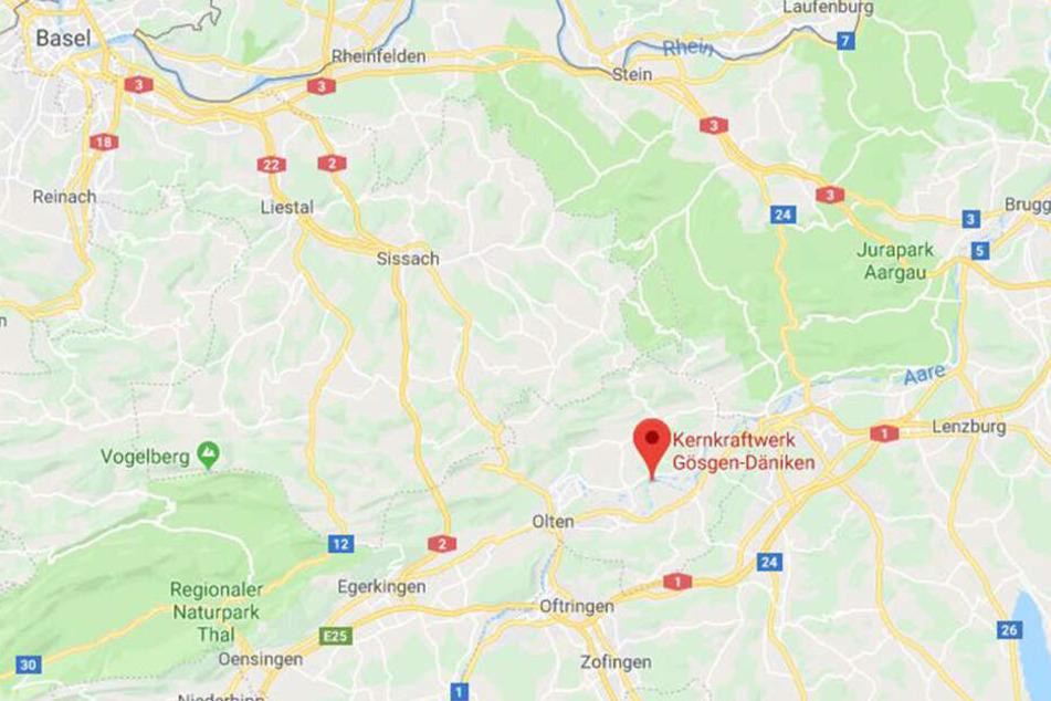 Das schweizerische Atomkraftwerk Gösgen liegt rund 50 Kilometer südöstlich von Basel.