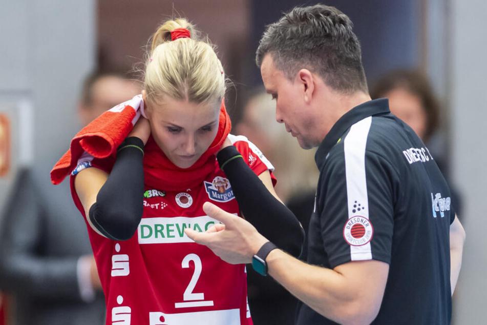 Mareen von Römer bei einem ihrer beiden Einsätze in dieser Saison: Beim Heimspiel gegen den SC Potsdam.