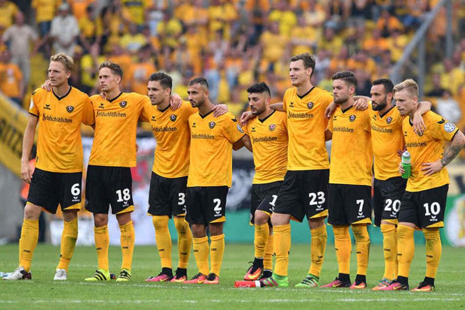 Die Dynamospieler können sich in der zweiten Runde auf Bielefeld freuen.