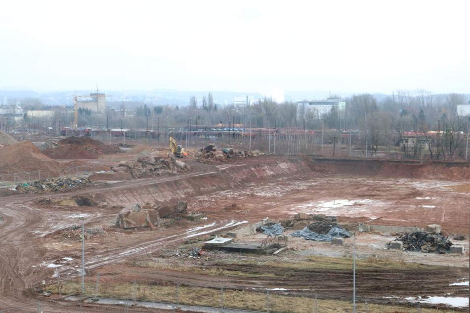 Auf diesem Gelände in Zwickau-Marienthal soll der Superknast entstehen.