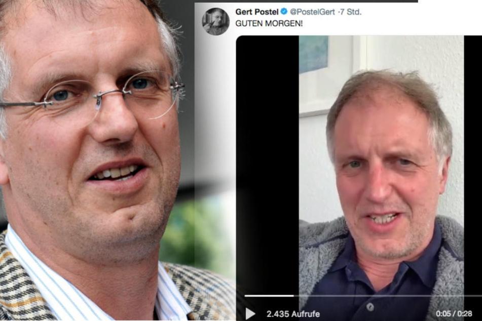 Hochstapler Gert Postel meldet sich in einem Video auf Twitter zurück.