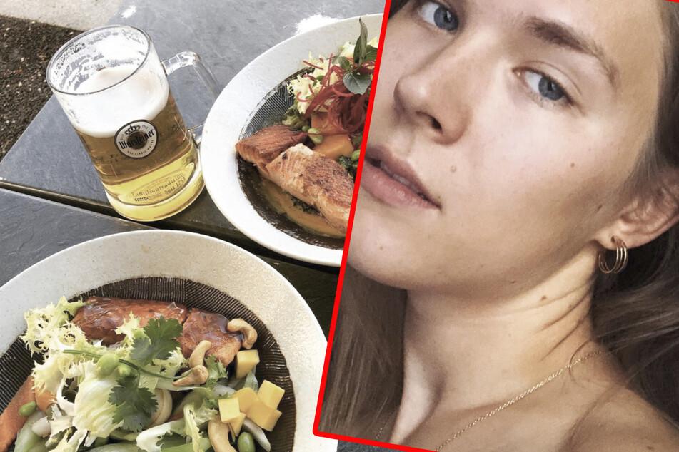 Mit einem Schnappschuss ihres Essens meldete sich Tatjana Wiedemann (24) bei ihren Fans zurück - zu deren Leidwesen leider nur kurz.