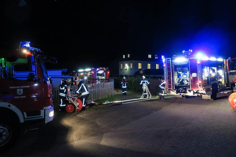 Das Feuer konnte noch vor dem Eintreffen der Feuerwehr gelöscht werden.