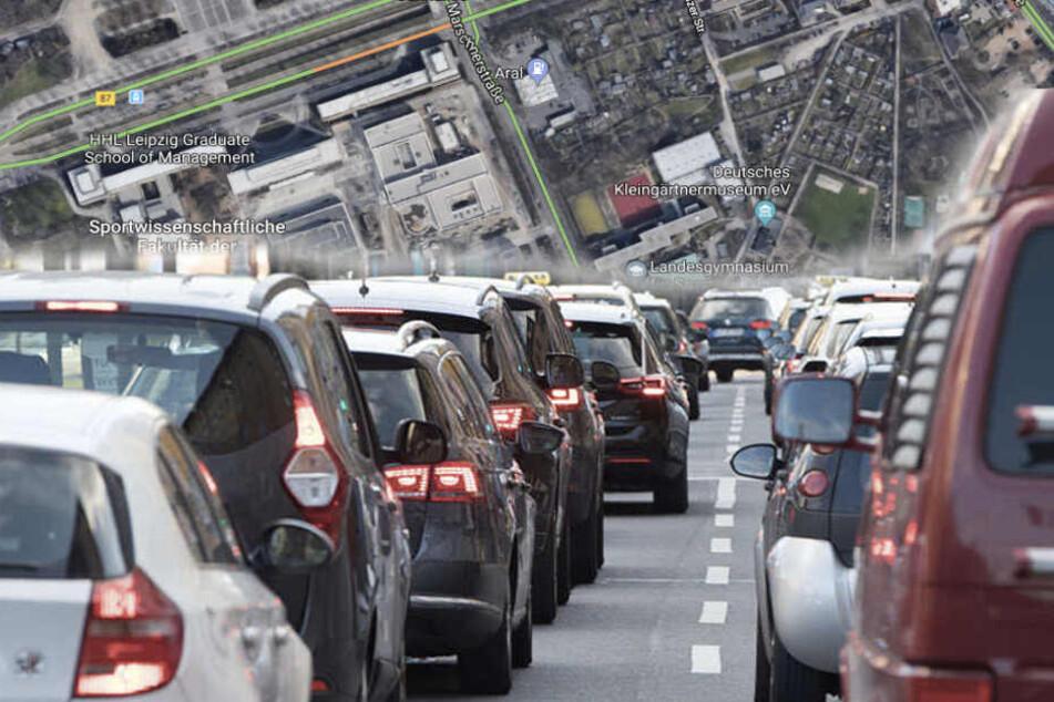 Auf der Marschnerstraße kommt es zu Verzögerungen.