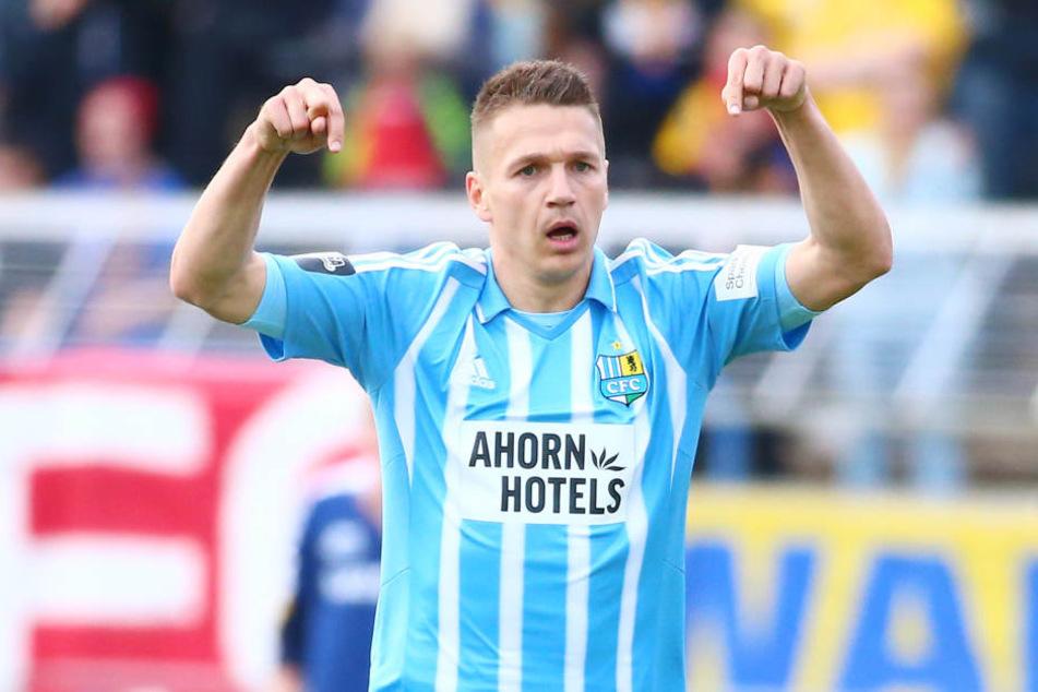 Daniel Frahn glänzte am Mittwoch gegen den 1. FC Lok als Doppeltorschütze.