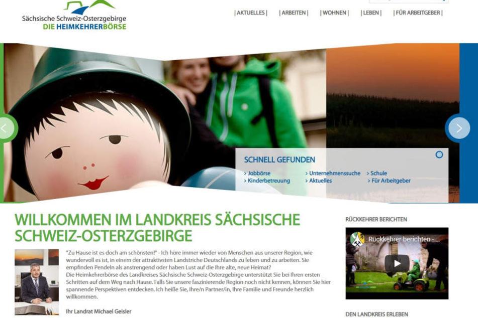 """Auch jenseits der Jobbörsen wird um Rückkehrer geworben. Hier die """"Heimkehrerbörse"""" des Landratsamtes Pirna."""