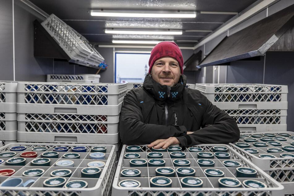 Tassen-Chef Ronny Hofmann (42) kennt die Ängste vieler Händler.