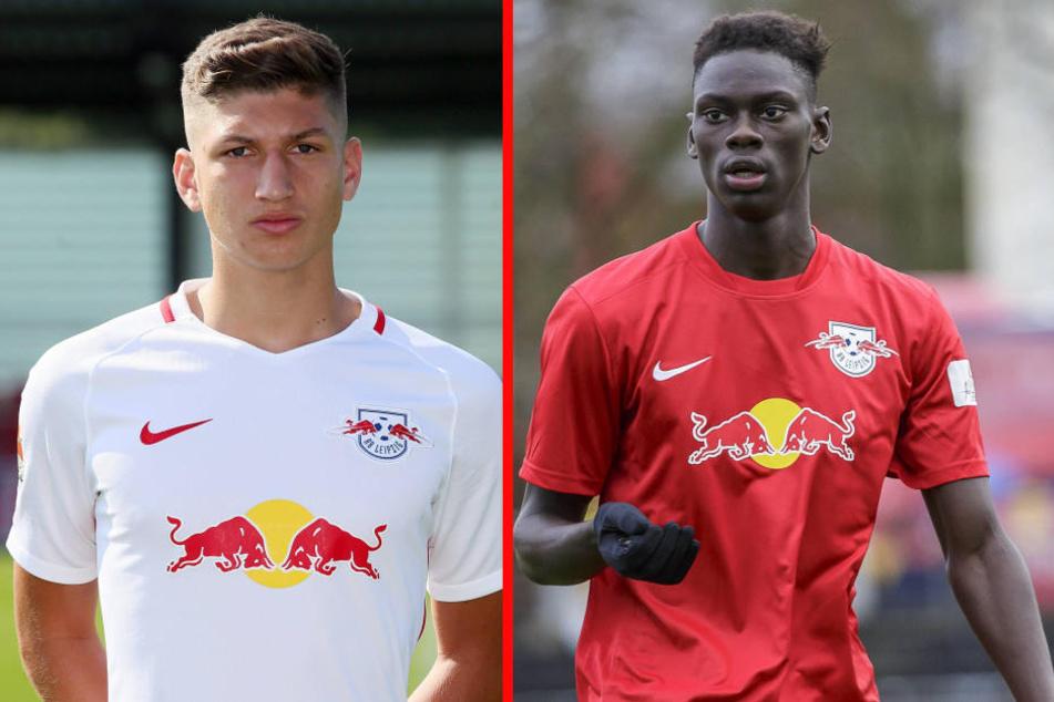 Vitaly Janelt (l.) und Idrissa Toure wurden vom DFB suspendiert und aus der Jugendakademie von RB rausgeschmissen.