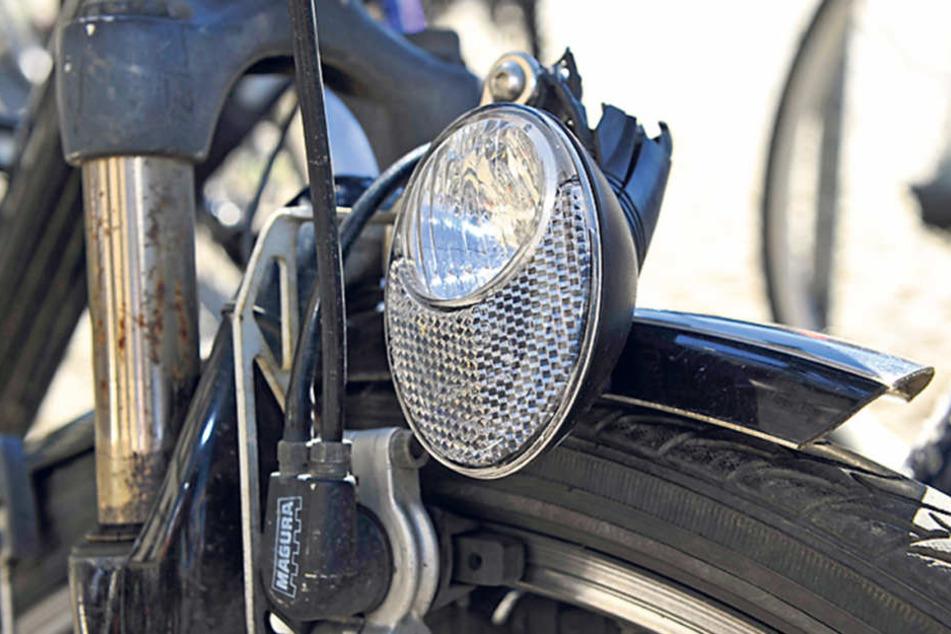 Defekte oder fehlende Beleuchtung ist einer der Hauptmängel Chemnitzer  Fahrräder.
