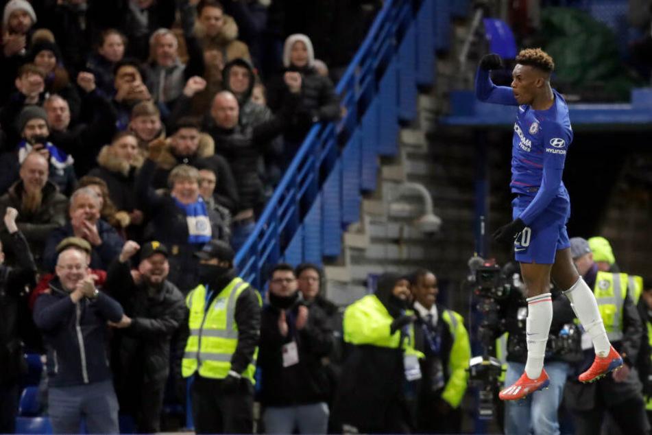 Callum Hudson-Odoi (18) stand am Sonntag bei Chelseas 3:0-Pokalsieg gegen Sheffield Wednesday in der Startelf, erzielte das 2:0.
