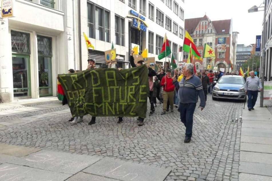 "Die ""Fridays for Future""-Demo in Chemnitz."
