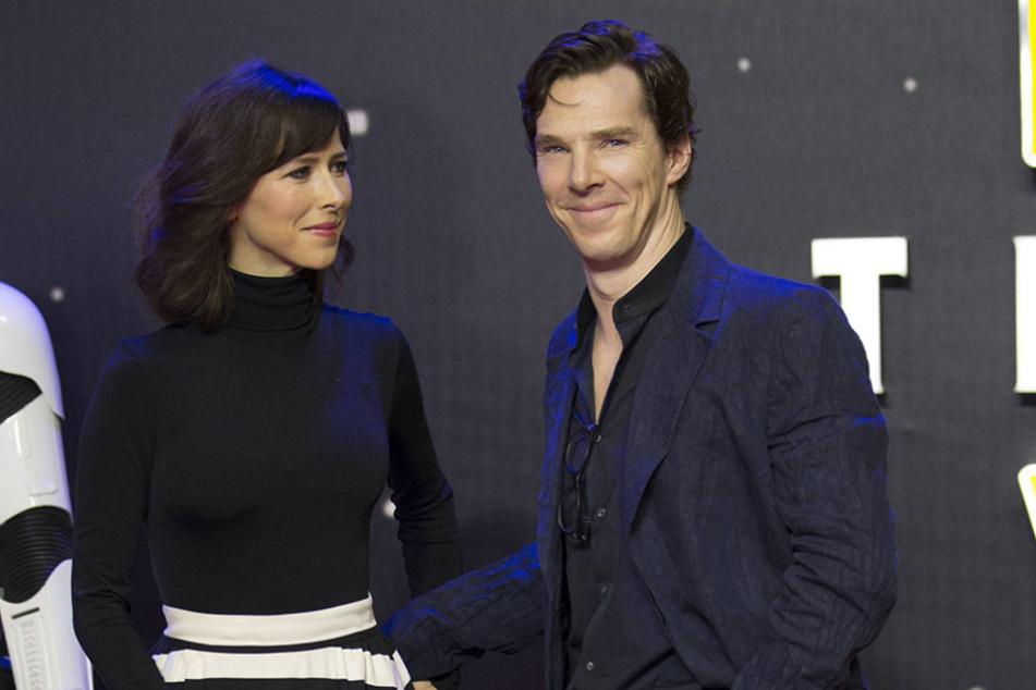 Sherlock-Holmes-Star Benedict  Cumberbatch mit seiner Frau Sophie in London.