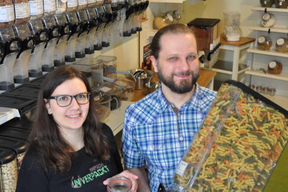 Nudeln, Haferflocken, Nüsse und und und... Im Unverpackt-Laden in der Kochstraße gibt es alles, was das Herz begehrt - ohne Plastik!