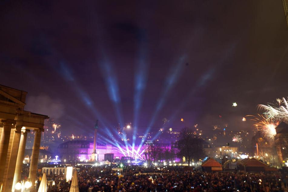 Während der Silvesterfeier wurde der Schlossplatz zur böllerfreien Zone erklärt.