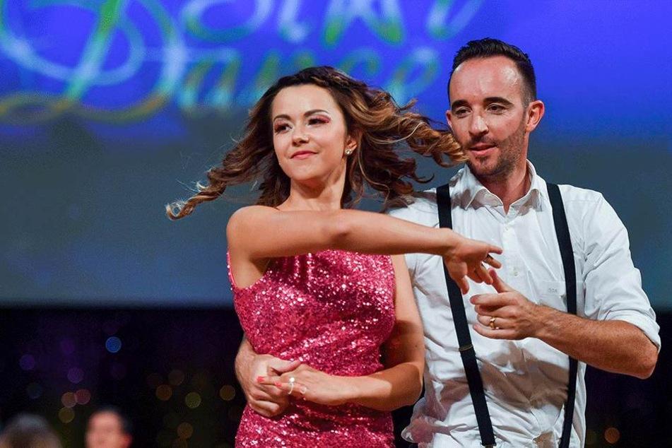 """Sprang zur gestrigen """"Star Dance"""" Gala für Felix Bender ein:  BOR-Geschäftsführer Sven Arnegger mit Partnerin Michal Kristin Ronneburger."""